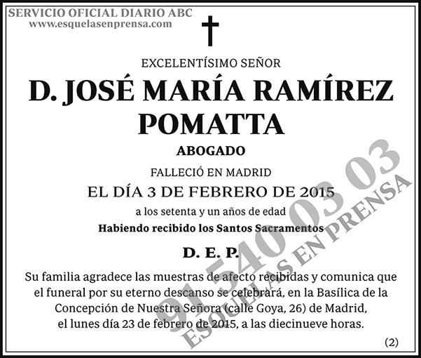 José María Ramírez Pomatta
